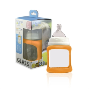 Picture of Cherub Baby Colour Change Glass Bottles Wide Neck 150ml Single Pack – Orange