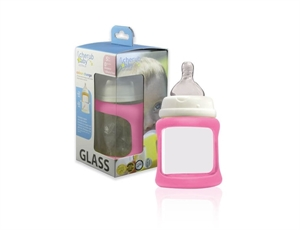 Picture of Cherub Baby Colour Change Glass Bottles Wide Neck 150ml Single Pack – Pink