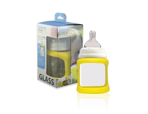 Picture of Cherub Baby Colour Change Glass Bottles Wide Neck 150ml Single Pack – Yellow