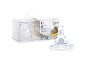 Picture of Cherub Baby Wide Neck Fast Flow Peristaltic Teats - 2pk