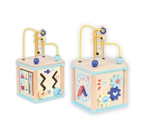 Picture of Discoveroo 5 in 1 Wooden Ocean Adventure Activity Cube