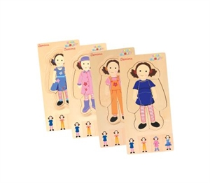 Picture of Discoveroo Play School - Dress Up Jemima Layer Puzzle