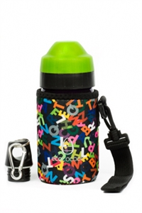 Picture of EcoCocoon Small Neoprene Bottle Cuddler  Alphabet Black