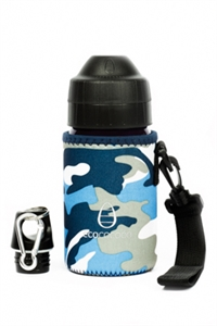 Picture of EcoCocoon Small Neoprene Bottle Cuddler Blue Camouflage