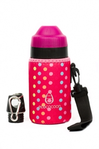 Picture of EcoCocoon Small Neoprene Bottle Cuddler Pink Spotty