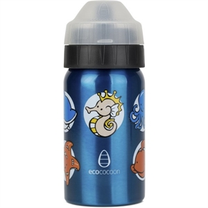 Picture of EcoCocoon Stainless Steel 350ml Ocean Friends Blue
