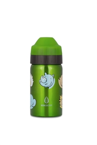 Picture of EcoCocoon Stainless Steel Bottle 350ml  Zoo Friends Green