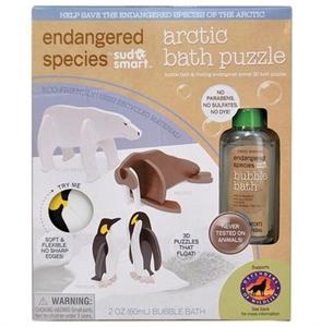 Picture of Endangered Species 3D Bath Puzzles Natural Bubble Bath Artic