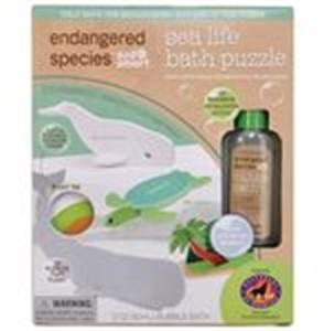 Picture of Endangered Species 3D Bath Puzzles Natural Bubble Bath Sea Life