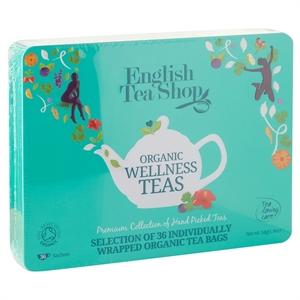 Picture of English Tea Shop Organic Wellness Collection Blue Tin 36pk