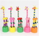 Picture of Giraffe Wood Pop Toy