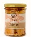 Picture of Good Fish Alaskan Salmon in Extra Virgin Olive Oil 195gm jar