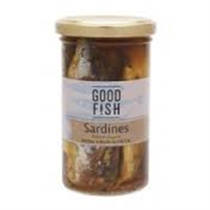 Picture of Good Fish Sardines in Extra Virgin Olive Oil 195gm jar