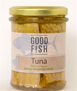 Picture of Good Fish Skipjack Tuna in Extra Virgin Olive Oil 200g jar