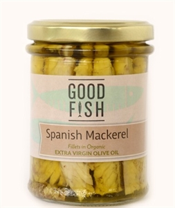 Picture of Good Fish Spanish Mackerel in Extra Virgin Olive Oil 200gm jar