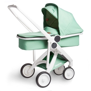 Picture of Greentom Upp Carrycot White - Mint - Clearance Sale $599