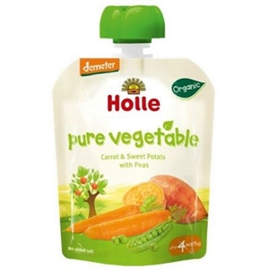 Picture of Holle Organic Pouch Carrot & Sweet Potato with Peas 90g from 4 months