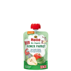 Picture of Holle Organic Power Parrot - Pouch pear & apple with spinach 90g from 6 months