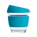 Picture of JOCO Reusable Glass Cup 236ml Blue Corporate