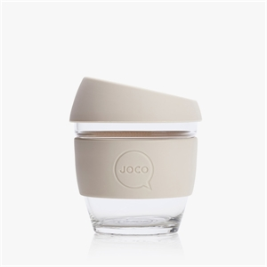 Picture of JOCO Reusable Glass Cup 236ml Sandstone Corporate