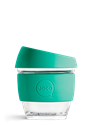 Picture of JOCO Reusable Glass Cup 236ml(8oz) Mint Corporate