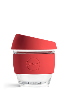 Picture of JOCO Reusable Glass Cup 236ml(8oz) Red