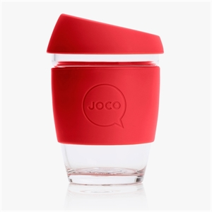 Picture of JOCO Reusable Glass Cup 354ml Red