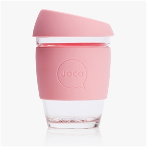 Picture of JOCO Reusable Glass Cup 354ml Strawberry
