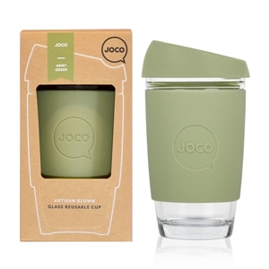 Picture of JOCO Reusable Glass Cup 473ml Army Green