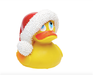Picture of Lanco 100% Natural Rubber Teether Denzel Duck with Christmas Hat