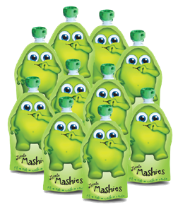 Picture of Little Mashies 10 x Pack Reuseable pouches