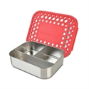 Picture of Lunchbots Red Dots Stainless Steel Lunchboxes in Trio Compartments
