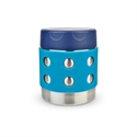 Picture of Lunchbots Stainless steel insulated Food Container dots Aqua 8oz/235ml