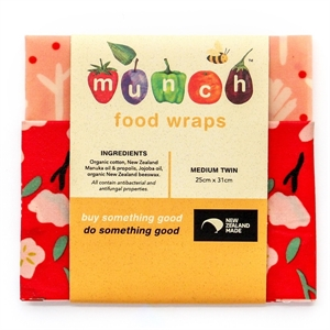 Picture of Munch Beeswax Food Wraps for Children (Medium Twin)