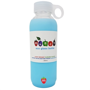 Picture of Munch Glass Water Bottle - Cyan