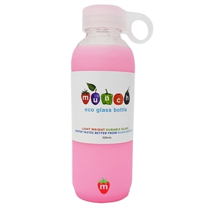Picture of Munch Glass Water Bottle - Pink