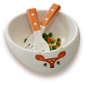 Picture of My Natural - Eco Bowl Orange Deer Gift Set