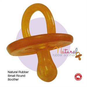 Picture of Natural Rubber Soother Round Small Single
