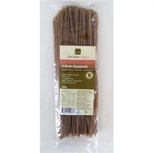 Picture of Olive Green Organics 3 Grain Spaghetti Brown Rice, Quinoa & Amaranth - 300g