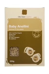 Picture of Olive Green Organics Baby Anellini Quinoa and Rice Pasta - 250g