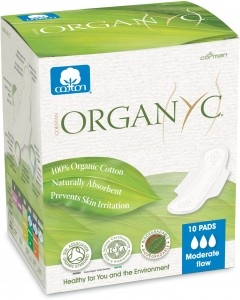 Picture of Organyc Moderate Flow Pads 10 Pack (Wings)