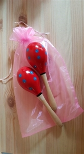 Picture of Red & Blue Spots Maracas