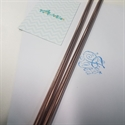 Picture of Rose gold metal stainless steel straws 2pk