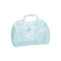 Picture of Sunjellies Retro Basket - Small | Light Blue