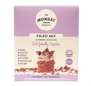 Picture of The Monday Food co - Paleo Mix Lavender & Chocolate Gut Friendly Cupcakes 300g