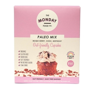 Picture of The Monday Food co - Paleo Mix Macqui Berry, Choc & Beetroot Gut Friendly Cupcakes 300g