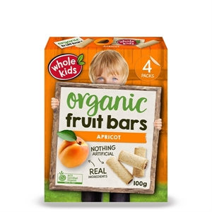 Picture of Whole Kids Apricot Bar 4 Pack