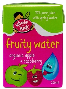 Picture of Whole Kids Organic Apple & Raspberry Fruity Water