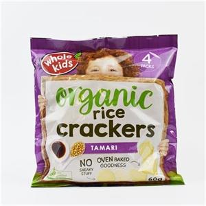 Picture of Whole Kids Organic Rice Crackers Tamari