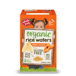 Picture of Whole Kids Organic Rice Wafers Sweet Potato 20g 5-Pack